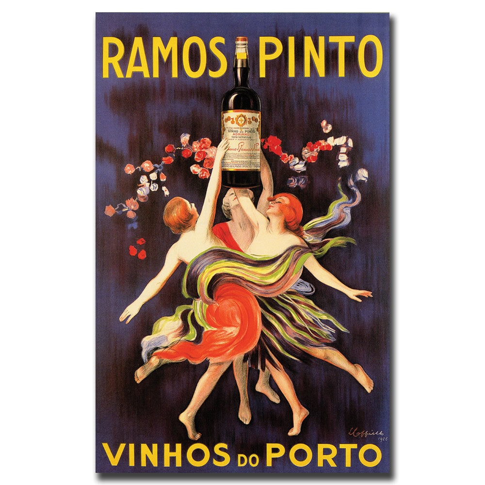 Ramos Pinto Wall art. Vintage wine advertising  Reproduction poster