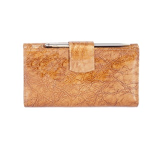 Scully Tan Leather Maxi Clutch
