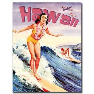 Vintage Art 'Hawaii' Canvas Wall Art