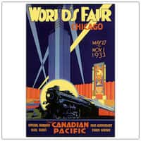 Vintage Art 'World's Fair-Chicago' Canvas Wall Art