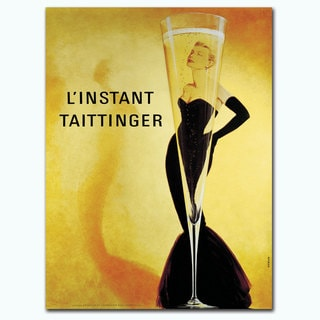 Vintage Art 'Tattinger' Canvas Wall Art