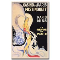 Vintage Art 'Casino de Paris Mistinguett' Canvas Wall Art