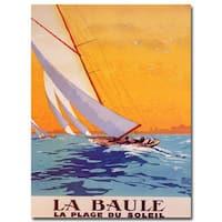 Charles Allo 'La Baule' Canvas Wall Art - Multi