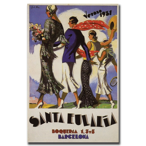 Vintage Art 'Verano Santa Eulalia' Canvas Wall Art