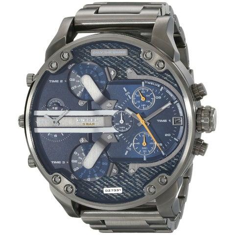 Diesel Men's DZ7331 'Mr. Daddy 2.0' Chronograph 4 Time Zones Black Stainless Steel Watch