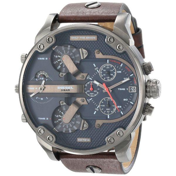 Diesel Men's DZ7314 'Mr. Daddy 2.0' Oversized Chronograph 4 Time Zone Watch