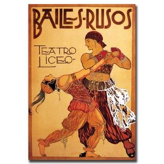 Vintage Art 'Bailes Rusos Teatro Liceo' Canvas Wall Art