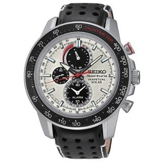 SeikoSpotrura Men's SSC359 Stainless Steel Perpetual Solar Alarm Chronograph Sapphire Crystal Watch