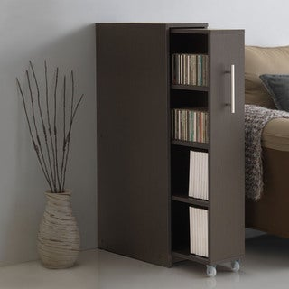 Modern Dark Brown Bookcase by Baxton Studio