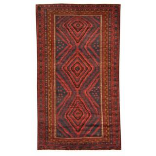 Handmade Herat Oriental Afghan Tribal Balouchi Wool Rug - 5'7 x 10' (Afghanistan)