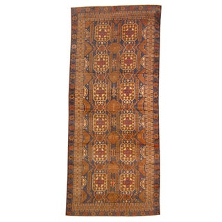 Herat Oriental Afghan Hand-knotted Tribal Balouchi Navy/ Ivory Wool Rug (5'2 x 12')