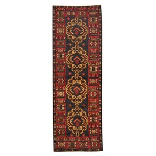 Herat Oriental Afghan Hand-knotted Tribal Balouchi Wool Runner (2'3 x 9'7)