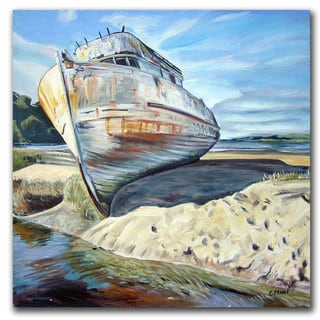 Coleen Proppe 'Inverness Boat by Colleen Proppe' Canvas Wall Art