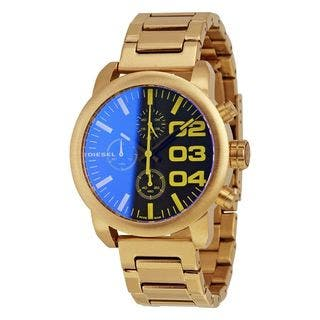 Diesel Women's DZ5467 'Flare' Chronograph Gold-Tone Stainless Steel Watch|https://ak1.ostkcdn.com/images/products/10534625/P17616431.jpg?impolicy=medium