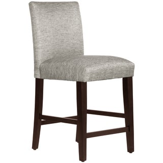 Skyline Furniture Uptown Counter Stool in Groupie Pewter