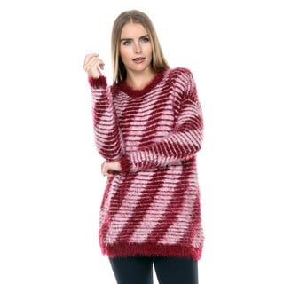 Stanzino Women's Burgundy Mohair Oversized Sweater