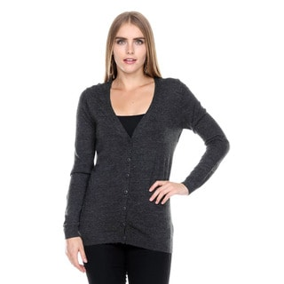 Stanzino Women's V neck Button Down Sweater Long Sleeve Cardigan