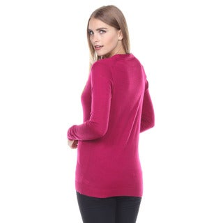Stanzino Women's V neck Button Down Sweater Long Sleeve Cardigan