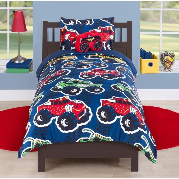 Overstock Toys For Boys : Monster trucks comforter set free shipping on orders