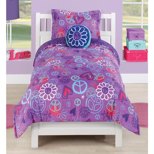 Peace Heart Comforter Set