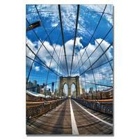 CATeyes 'Brooklyn Bridge' Canvas Wall Art