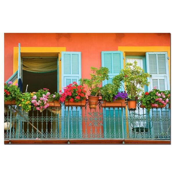 AIANA 'Veranda Garden' Canvas Wall Art