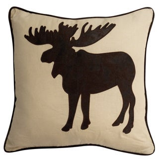 Stowe Creek 18-inch Moose Throw Pillow