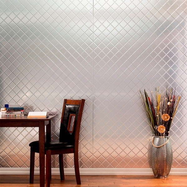 Shop Fasade Quilted Brushed Aluminum Wall Panel 4 X 8