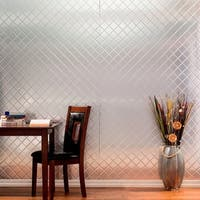 Fasade Quilted Brushed Aluminum Wall Panel (4' x 8')