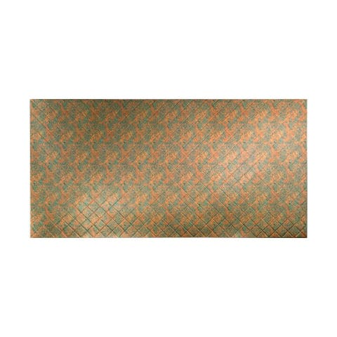 Fasade Quilted Copper Fantasy Wall Panel (4' x 8')