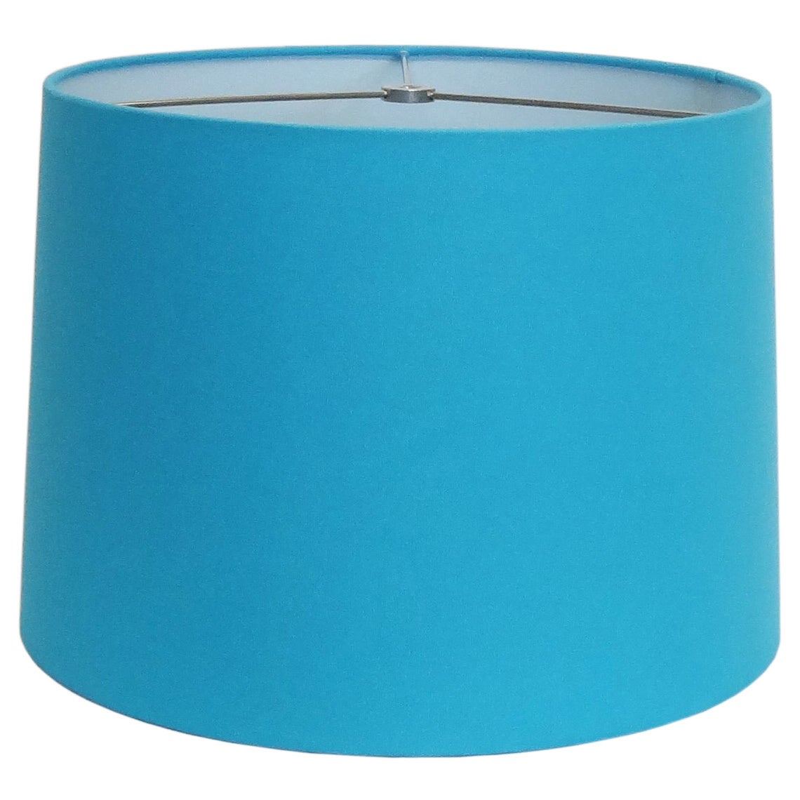 Turquoise Round Hardback Shade, Blue (Fabric)