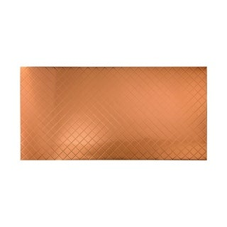 Fasade Quilted Polished Copper Wall Panel (4' x 8')