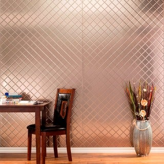 Fasade Quilted Brushed Nickel Wall Panel (4' x 8')