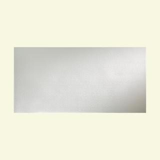 Fasade Hammered Gloss White Wall Panel (4' x 8')