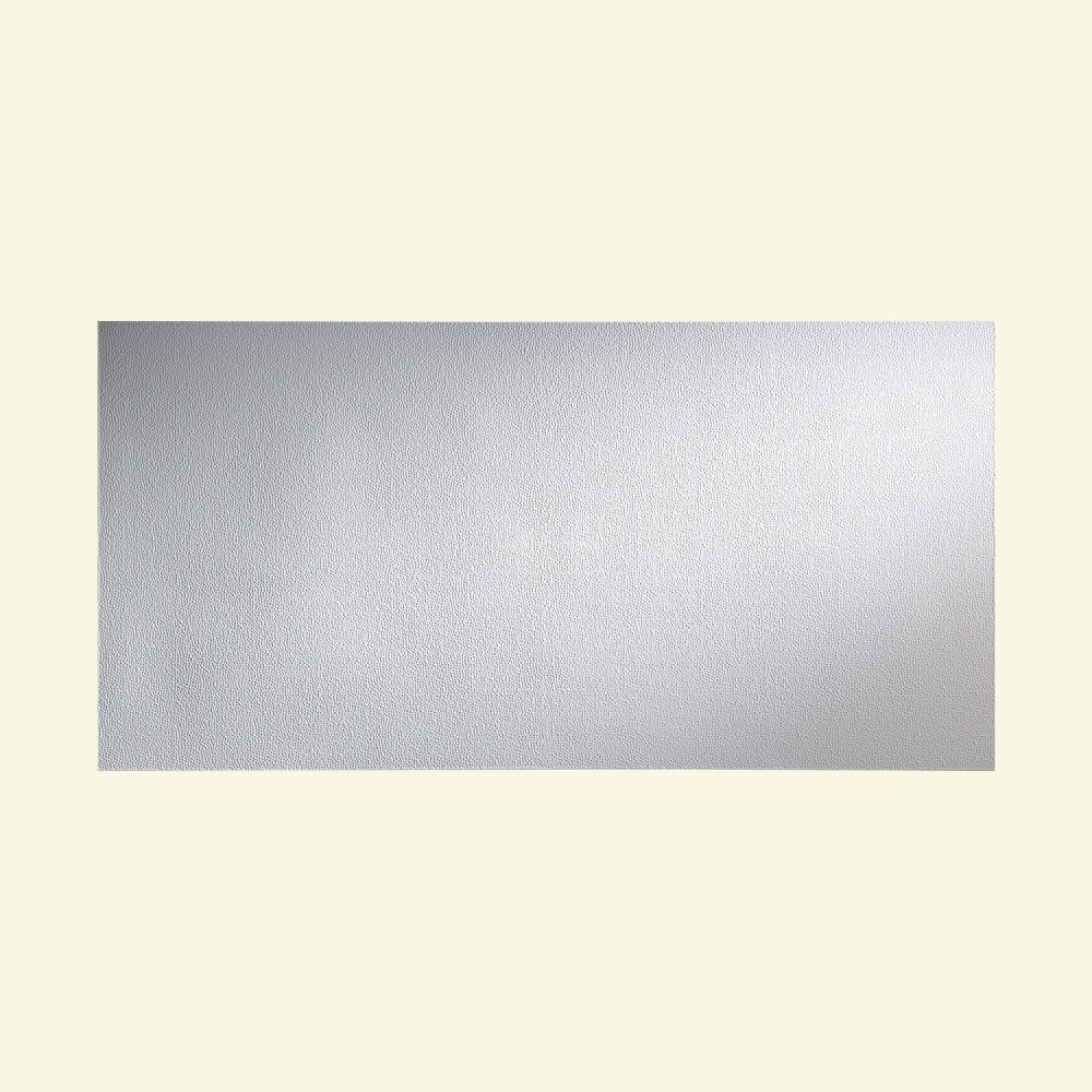 Fasade Hammered Matte White Wall Panel (4' x 8') (4' x 8'...