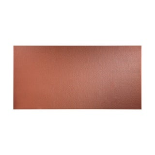 Fasade Hammered Argent Copper Wall Panel (4' x 8')