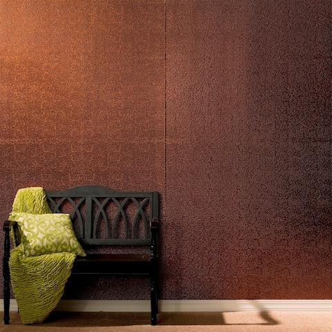 Fasade Hammered Oil Rubbed Bronze Wall Panel (4' x 8')