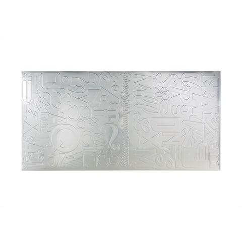 Fasade Alphabet Brushed Aluminum Wall Panel (4' x 8')
