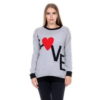 Stanzino Women's Long Sleeve Knit Sweater