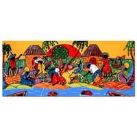 Master's Art 'Caribbean Armory' Canvas Wall Art - Multi