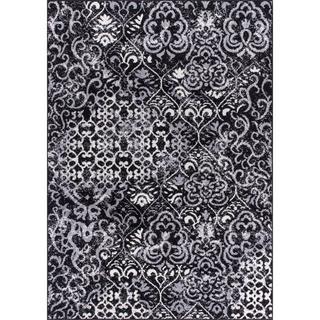 Nourison Atash ATA03 Area Rug (53 x 73 - Black)