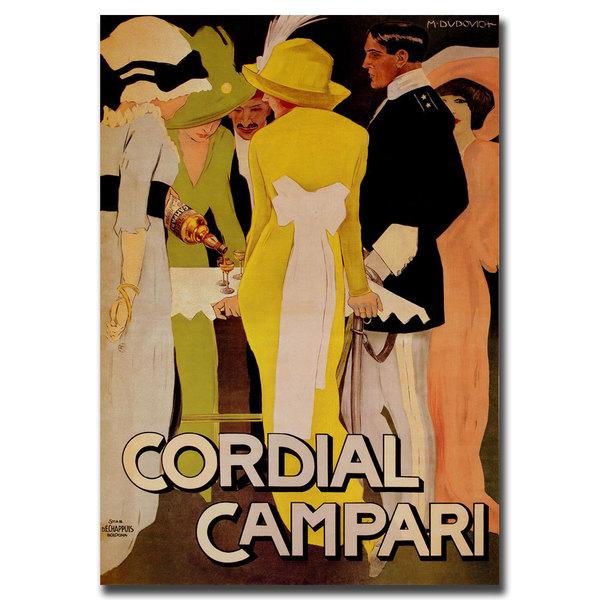 Shop Vintage Art \'Cordial Campari\' 35x47 Canvas Wall Art - On Sale ...