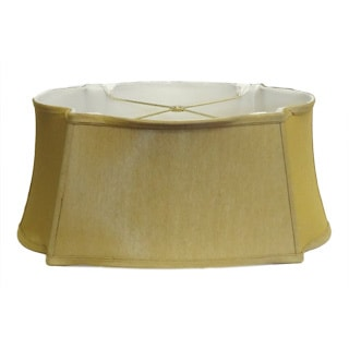 Large Oval Cut Corner Gold Lamp Shade