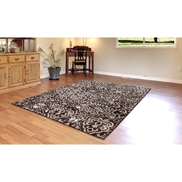 Shop Nourison Atash Espresso Rug 2 3 X 8 Runner 7 6 X 9 6 On