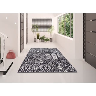 Nourison Atash Black Runner Rug (2'2 x 7'3)