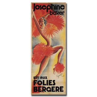 Vintage Art 'Josephine Baker' 24x47 Canvas Wall Art