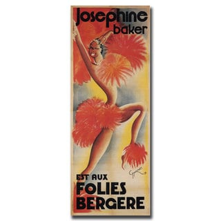 Shop For Vintage Art Josephine Baker 24x47 Canvas Wall Art Get Free Delivery On Everything At Overstock Your Online Art Gallery Store Get 5 In Rewards With Club O 10535081
