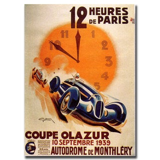 Vintage Art '12 Heur de Paris' 24x32 Canvas Wall Art