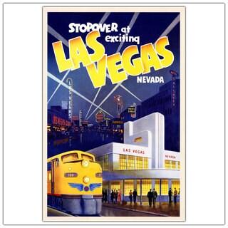 Vintage Art 'Las Vegas' 24x32 Canvas Wall Art
