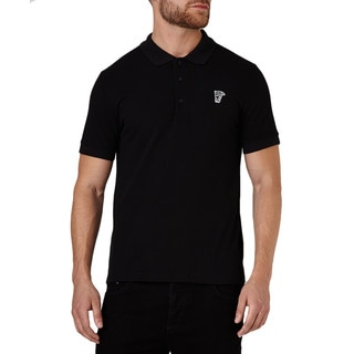 Versace Collection Men's Black Pique Cotton Medusa Short Sleeve T-shirt